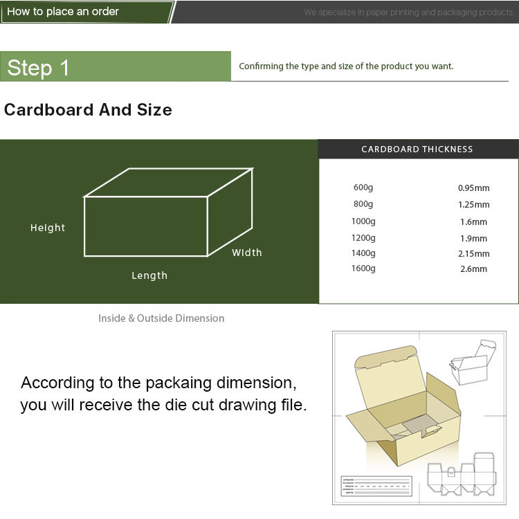 package box designing step 1